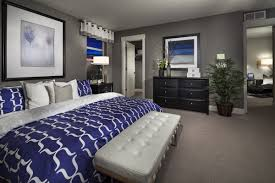 royal blue bedroom curtains grey white and royal blue master suite smokey blue instead of