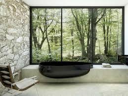 Modern Bathroom Design Black Bathtub From Glass Idromassagio - Organic bathroom design