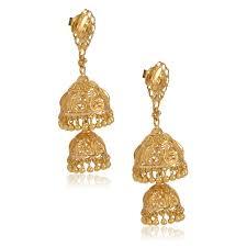 gold earrings images senco gold 22k yellow gold jhumki earrings