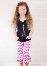 ruffle girl pattern hack ruffle capris tutorial and pattern