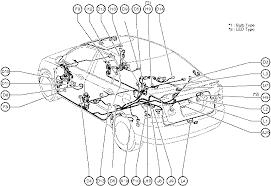 position of parts in body toyota corolla 2004 wiring