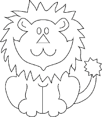 printable pictures lions kids coloring