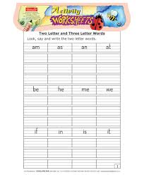 scholars hub worksheets two and three letter words