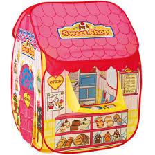 leu bong cho be lều bóng hình cửa hàng màu hồng li 686 2 bé chơi mà học