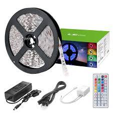 smd led strip light dimmable 12v 300 leds multicolor led light strip kit 5m 16 4ft le