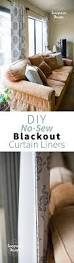 diy no sew blackout curtain liners u2013 seagrain design