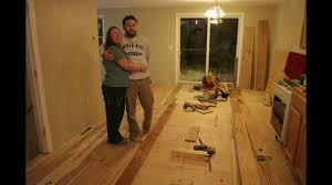 installing wide plank hickory floors