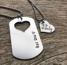 his and hers dog tags customizable one his only couples necklace set dog tag with