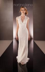 vintage lace keyhole back bridal gown martina liana wedding dresses