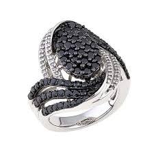 hsn black friday 2 04ctw black and white diamond oval