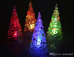 2018 acrylic artificial flocking tree led multicolor