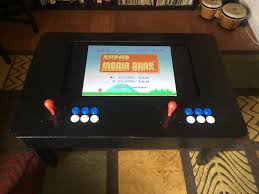 coffee table game console raspi two player arcade coffee table