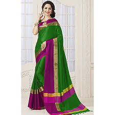 Buy Violet Embroidered Art Silk Indian Beauty Multicolor Self Design Art Silk Saree With Blouse