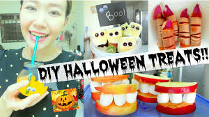 Halloween Appetizers For Kids Party by Diy Halloween Treats Super Easy Party Food Ideas Youtube