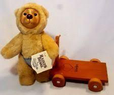 wooden faced teddy bears raikes teddy bears ebay