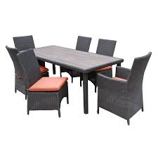 Patio Furniture 7 Piece Dining Set - shop ae outdoor denali 7 piece black resin patio dining set at