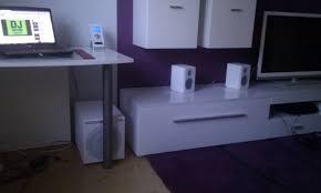 Schreibtisch 1m Tief Subwoofer Richtig Platzieren
