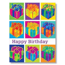 pop art birthday presents card for workplace birthdays