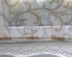 French Kitchen Curtains by Linen Cafe Curtains Etsy