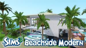 oceanfront house plans the sims 3 house designs beachfront modern walkthrough youtube