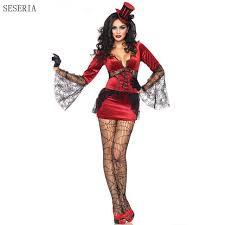 Halloween Vampire Costumes Aliexpress Buy Seseria Halloween Vampire Costume Women