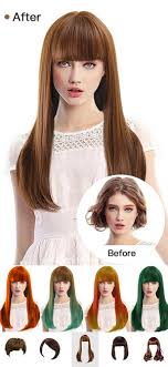 before and after hair styles of faces hair style salon color changer on the app store