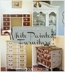 4 different styles for white painted furniture lost u0026 found