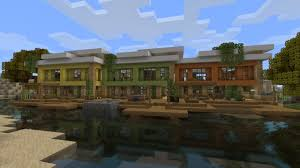 Modern Row Houses - modern rowhouses lets build beach town project minecraft project