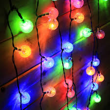 outdoor christmas light balls 5m 30 led cotton ball light string solar christmas lights outdoor