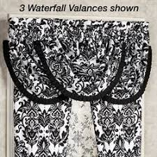 Black And White Damask Curtain Clearance Curtains And Drapes Touch Of Class