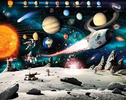 fototapete kinderzimmer junge walltastic fototapete kinderzimmer wandbild weltraum planeten