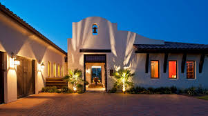 Spanish Mediterranean Homes Fabulous Exterior Wall Lighting Plus Identical Trees And Brick