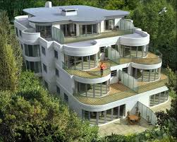 the most white modern house architecture in european with amazing