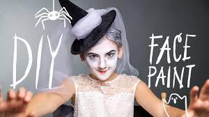 easy face makeup for halloween diy face paint witch makeup for halloween youtube