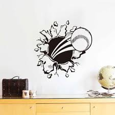 online shop baseball wall decals sports creative art design vinyl online shop baseball wall decals sports creative art design vinyl wall sticker waterproof self adhesive wallpaper bedroom decals home decor aliexpress