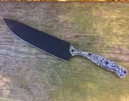 Custom Kitchen Knives For Sale Custom Engraved Handle And Damascus 9 Inch Chefs Knives From