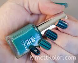 two toned teal stripes kimett kolor