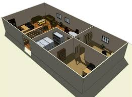 home office basic floorplan 3d modern new 2017 design ideas