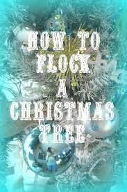 diy flocked christmas tree artificial tree flocked christmas