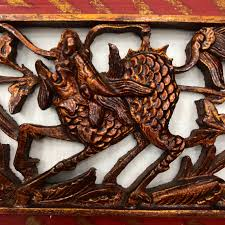 carved cabinet door panels chinese dragon kylin sculpture chinese cabinet door panel vintage