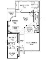 Narrow House Plans With Garage Rose Hill Narrow Floor Plans Ranch Floor Plans