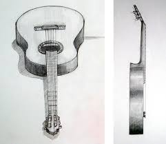 drawn guitar pencil music note pencil and in color drawn guitar