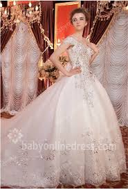 2017 ball gown wedding gowns spaghetti straps short sleeve crystal