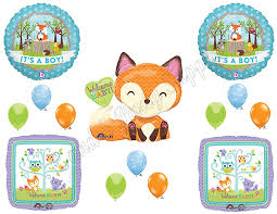 Amazon It s A Boy Woodland Friends Baby Shower Balloons