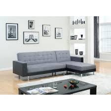 canapé d angle noir et gris orlando canapé d angle réversible convertible 4 places tissu gris