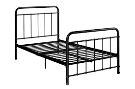 amazon com dhp brooklyn metal iron bed w headboard and footboard
