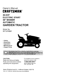 craftsman 917 273061 owner s manual