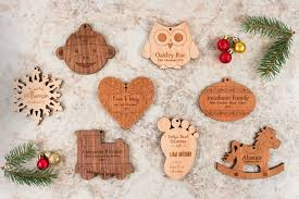 personalized wooden fox ornament smiling tree