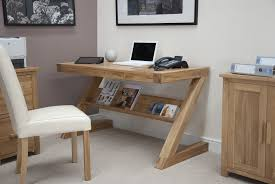 Small Desk Designs Stylish Oak Computer Desks For Home Small Oak Z Shape Computer