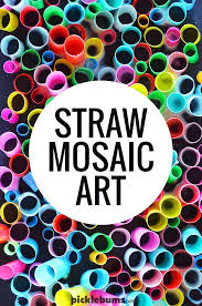 super cool straw mosaic art easy art art activities and super easy